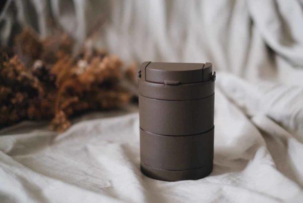 轉轉杯咖啡色收納