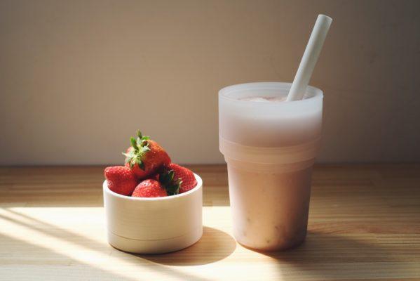轉轉杯草莓奶昔
